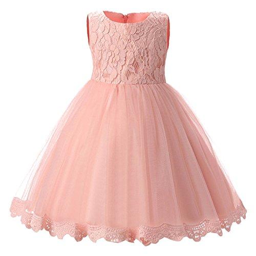 Baby Mädchen Prinzessin Kleid Bowknot ärmellos Brautjungfernkleid Hochzeit Festlich Partykleid Kleider für Kleinkinder Kinder Rosa/24 Monate