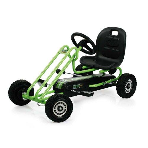 Imagen principal de Hauck T90105 Lightening Go-Kart - Coche con pedales de juguete (metal, plástico y acero, 90,6 x 53 x 22,4 cm), color verde y negro