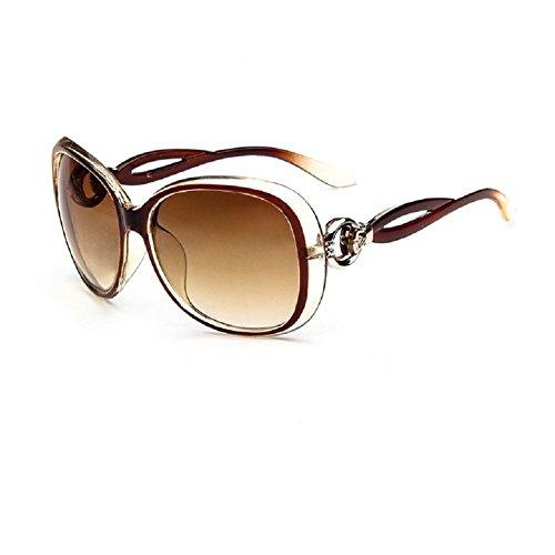 O-C-Occhiali da sole Fashion da donna grande, misura 60mm marrone (Novità Collezione Sole)
