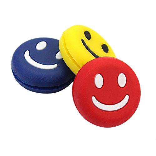 3x Lächeln Gesicht Tennisschläger Vibrationsdämpfer Stoßdämpfer shock absorber