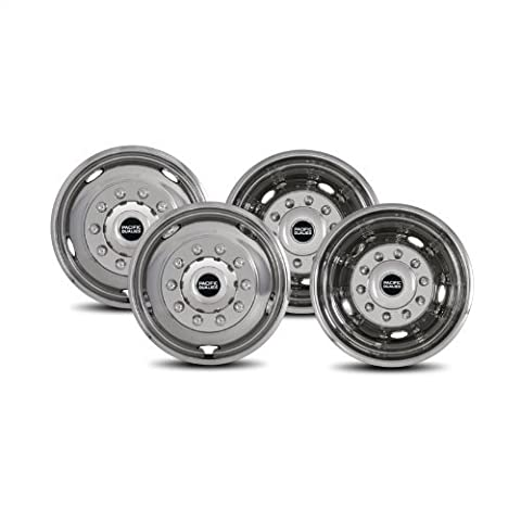 Pacific Dualies 44-1950 Polished 19.5 Inch 10 Lug Stainless Steel Wheel Simulator Kit for 2008-2017 Dodge Ram 4500/5500 Truck by Pacific Dualies