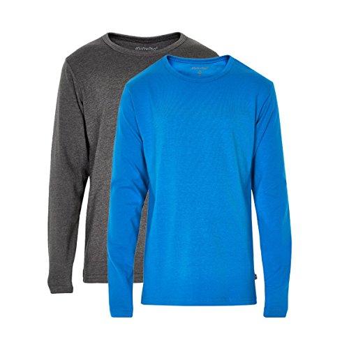 Minymo 3934751104 Kinder Jungen T-Shirt, Langarm, Alter 3-4 Jahre, 2er Pack, Größe: 104, hellblau/grau (Drei Jahre Alten Jungen)