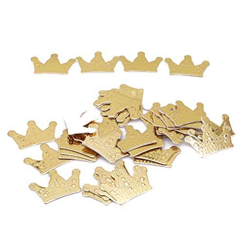 Kissherely 50 Teile/Satz Gold Farbe Crown Cupcake Toppers Kuchen Dekoration Kinder Geburtstag Party Favors