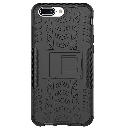 competitive price 6ae0e ab5a3 Tarkan OnePlus 5 Armour Case , Hard Hybrid Rugged Bumper Kick Stand Back  Cover (Black)