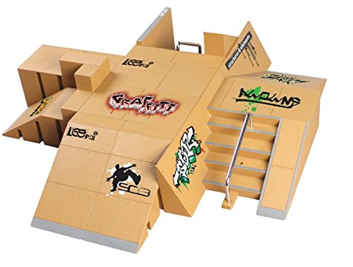 JAGENIE 11PCS kit skate park ramp Parts for Tech Deck Fingerboard mini finger skateboard