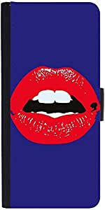 Snoogg Red Lips Kiss Designer Protective Phone Flip Case Cover For Samsung Galaxy Grand Neo
