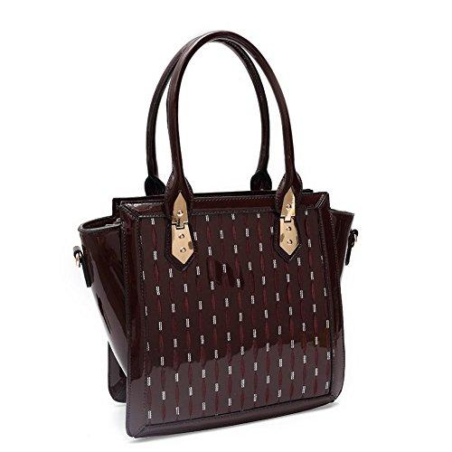 Imágenes Para La Venta El Envío Libre 100% Auténtico Blancho Bedding Womens [Trendy S # 2] Borsa di cuoio Fashion PU elegante Tote Bag Black Handbag 2 - Burgundy Clásica En Línea nh0yjIT