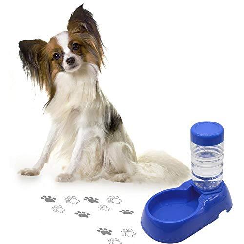 Sroomcla 2 in 1 Wasserspender für Haustiere automatischer Haustier Zufuhr trinkender Brunnen Katze Hund Plastiknahrungsmittel Schüssel Haustier Wasserspender - Wasserschale Brunnen Hund