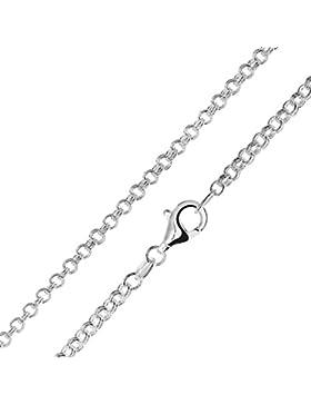MATERIA Zwillings Ankerkette Silber 925 rhodiniert 2,3mm für Damen Herren in 40 45 50 60 70 80 cm #K76
