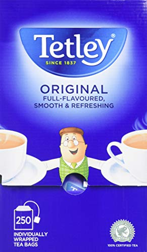 Tetley Tea Bags with Envelopes (Pack of 250)