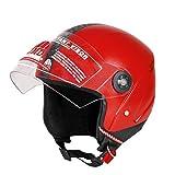 #4: JMD GRAND NEW ISI (Reflector) Unisex Half/Open Face Helmet (Red,M/L)