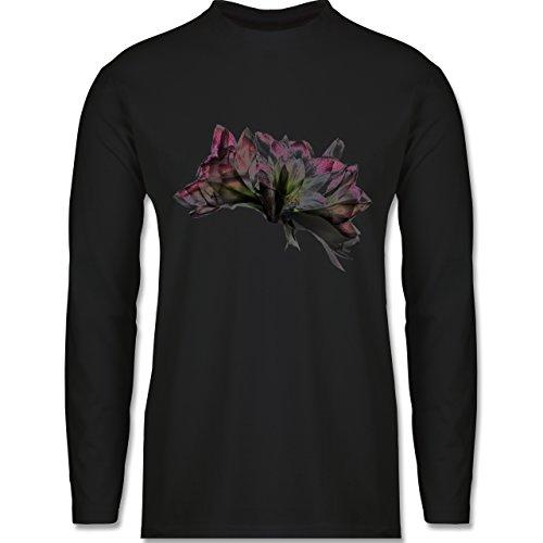 Blumen & Pflanzen - Orchidee Timelapse - Longsleeve / langärmeliges T-Shirt für Herren Schwarz