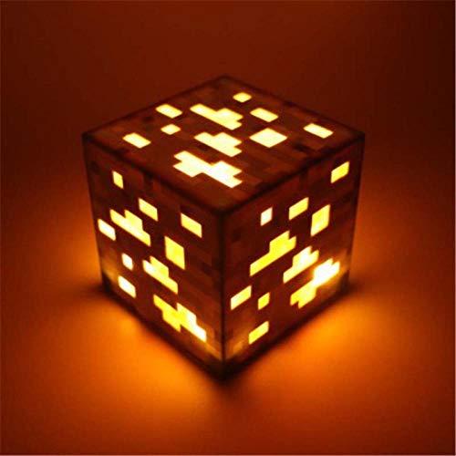 GYBYB Original Light Up Torch Lampe Hand oder Wandhalterung Beleuchtung Erz Blue Stone Diamond Square Nachtlichter Kids Gift @ Red -