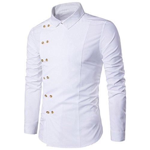 T-shirt pour homme Honestyi, sportif et tendance, style décontracté M blanc