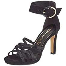 Tamaris Women's 1-1-28082-34 Heeled Sandal, Black Black Comb, 5.5 UK