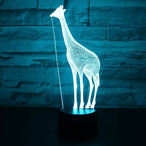 Orangeww 3d Nachtlicht / 3d Illusion Lampe / 3d Led Lampe Nachtlicht/Schlafzimmer Nachttischlampe/Valentinstag Geschenke /Giraffe Deer -