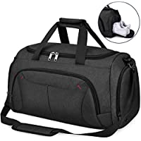 NUBILY Sports Gym Bag Duffel Bags with Shoes Compartment Waterproof Large Training Sport Holdall Travel Overnight Weekend Bag for Men and Women 40L