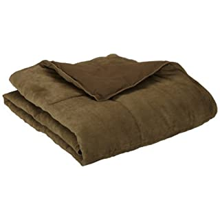 Aeolus Down Olive Microsuede Down Alternative Throw by Aeolus Down