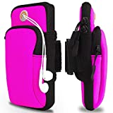 KACOOL Elastic Running Armband for Mobile Phone, Large Capacity Arm Band to Hold