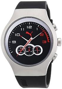 Reloj Puma Time de cuarzo para hombre con correa de plástico, color negro de PUMA Time