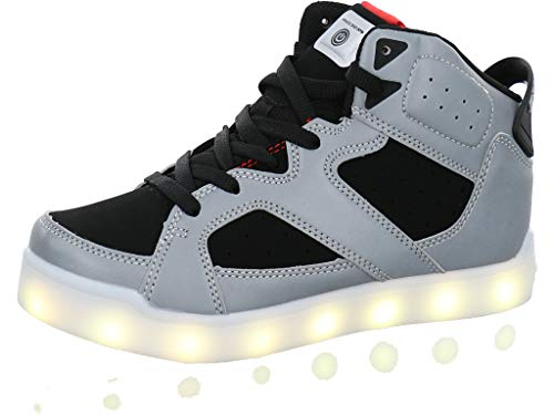 Skechers Kids Basketball-Bootie - SLights® Größe 39 Silver/Black