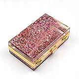 SHMILY Damentasche Rechteckige Acryl Transparente Liquid Crystal Dinner Bag Kleine Tasche,Pink