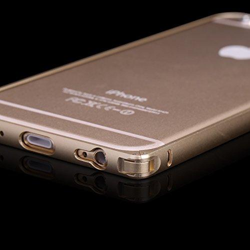 FindaGift iPhone 6 / iPhone 6s Frame Hülle, Leicht Hart Metall Hippocampal Schnalle Frame Case Anti-Kratzer Seitenschutz Bumper Cover für iPhone 6 / iPhone 6s 4.7 inch Frame Grau Silber
