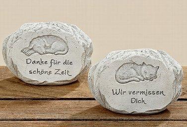 Grabstein Trauerstein für Hund und Katze (Katze)