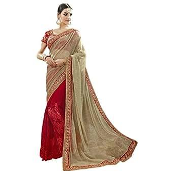 Triveni Women's Faux Georgette Embroidered saree_TSN87060