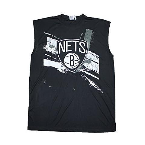 BIG & TALL NBA Mens Brooklyn Nets Athletic Dri-Fit Basketball Tank Top 3XLT Noir
