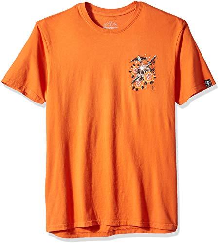 Sullen Art Collective Herren Sparrose T-Shirt, Burnt orange, Mittel - Burnt Orange T-shirt