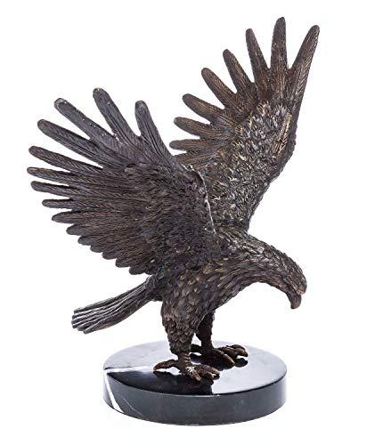 aubaho Bronze Skulptur Adler Bronzeskulptur sculpture eagle im antiken Stil gefertigt