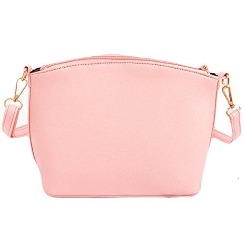 Saingace Neue Art- und Weisefrauen-Kurier-Beutel-Kreuz-Muster-Frauen-Beutel-Minifrauen-Schulter-Beutel Handtaschen Schultertasche Freizeitrucksack Tasche Rucksäcke Rosa