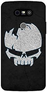 The Racoon Grip Borken Skull hard plastic printed back case / cover for LG G5