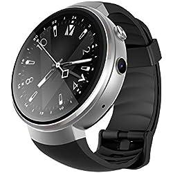 L&J Smart Watch Für Männer - Ios & Android Kompatibilität - Mit Mobile Power - Pulsmesser Schrittzähler Mit Bluetooth,Gray