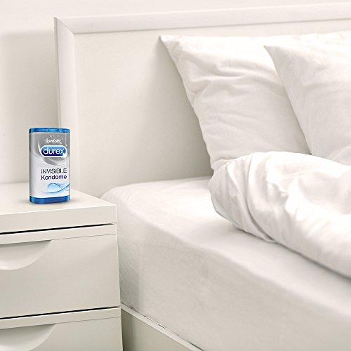 Durex Invisible Kondome, extra dünn für intensives Empfinden, 12er Pack (1 x 12 Stück) - 7