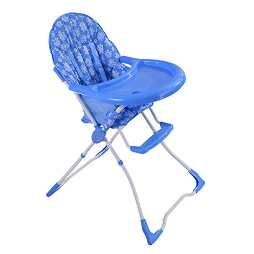 COSTWAY Hochstuhl Kinderhochstuhl Babyhochstuhl Treppenhochstuhl Hochsitz klappbar & Farbwahl (Blau)