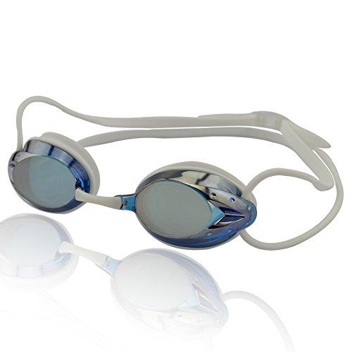 »Harpoon« Schwimmbrille / 100% UV-Schutz + Antibeschlag / Starkes Silikonband + stabile Box / AF-2000m / grün