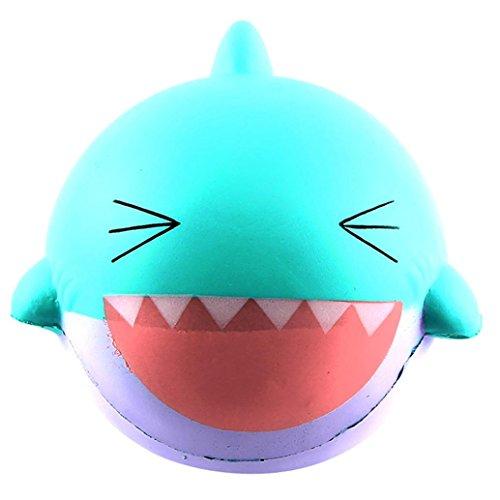 VENMO 15cm großer schöner glücklicher Haifisch Duftende Squishy langsam steigende Squeeze-Spielzeug-Sammlung Christmas Gift Cartoons Baby Toy Bildung Spielzeug Entwicklungs-Kids-Spielzeug (Mint Green)