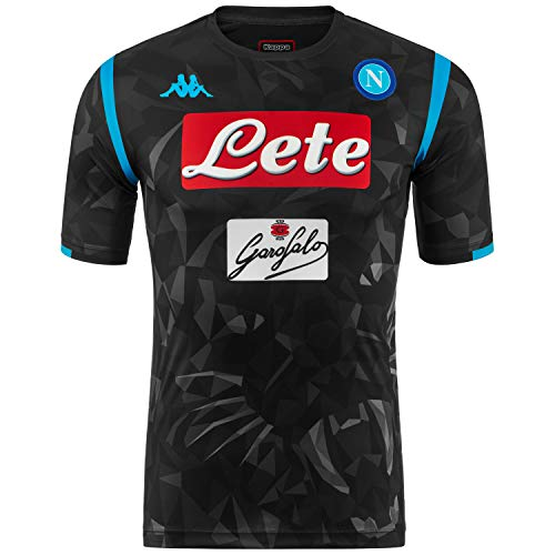 SSC Napoli Camiseta de juego visitante réplica negra fantasía, negro, xl