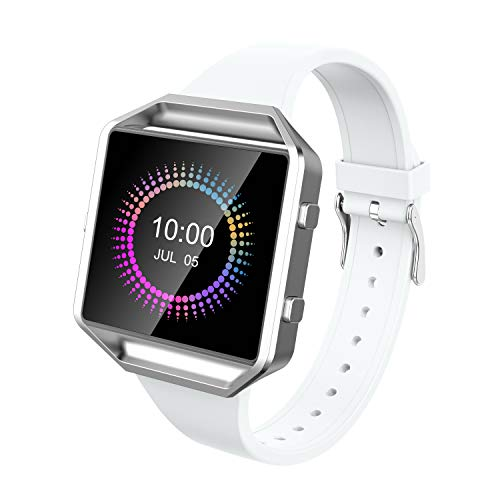Wearlizer für Fitbit Blaze Armbänder, Silikon Slim TPU Ersatzband Zubehör Armband für Fitbit Blaze Sportuhr Damen Herren - Small/Large