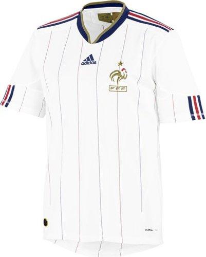 Adidas–Camiseta de fútbol selección francia FFF exterior color blanco/oro, fútbol, Hombre, color blanco/dorado, tamaño XL
