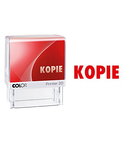 Colop 100671 Textstempel Printer 20 mit Text KOPIE Abdruck rot, im Blister