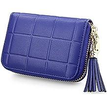 DYSS RFID tarjeta de crédito cartera Cuero Corta bolso Travel wallet con cremallera Para los hombres las mujeres