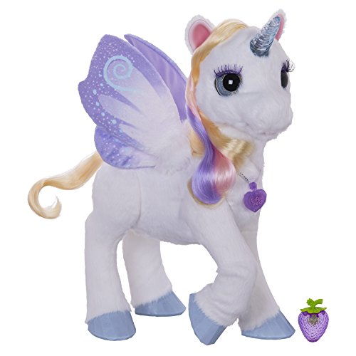 *Lovable Friends StarLily, My Magical Unicorn, Horn Lights up In Different Colors, Can Move Her Front Hoof, White/Purple by Fur Real Friends*