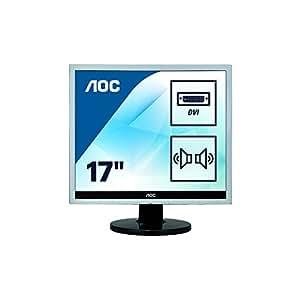AOC e719SDA 17 inch LED Multimedia Monitor (1280x1024, VGA, DVI-D, Eco Mode, e-Saver, i-Menu)