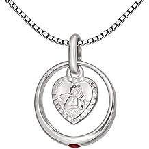 Taufe Schmuckset Kreuz mit Taufring 16 Zirkonia Steine /& 38 cm Kette Silber 925
