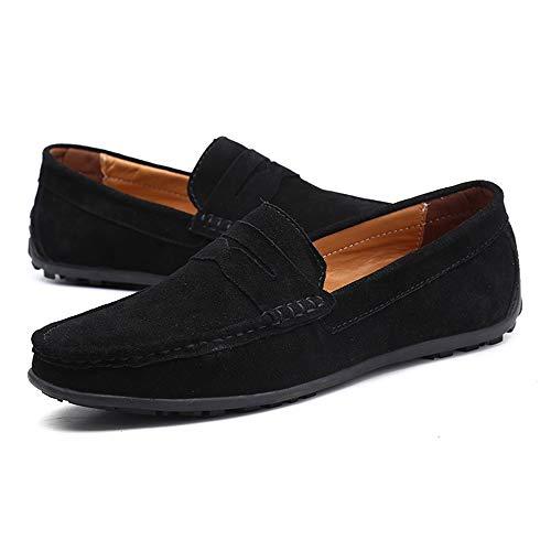 SchuhecolorSchwarzGröße Sind Eu Herren 43 Für Komfortable Boots Casual Qianhaoqju Bögen Mokassins Slipper Atmungsaktive 2Y9EHIDWeb