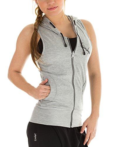 Winshape WBU1 Dance Veste à capuche et sans manches idéales pour le sport Pour femme Gris - gris