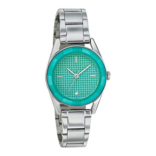 4105hQHYHzL. SS510  - 6144SM02 Fastrack Girls Metal Green watch